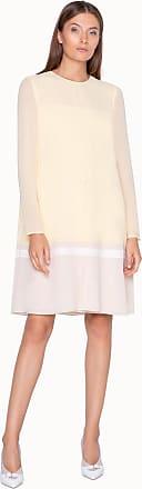 Akris Knielanges Kleid in A-Linie aus zweifarbiger Seide