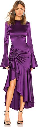 Caroline Constas Monique Dress in Purple
