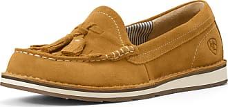 Ariat Womens Tassel Cruiser Casual Shoe in Butterscotch Leather, B Medium Width, Size 3.5, by Ariat