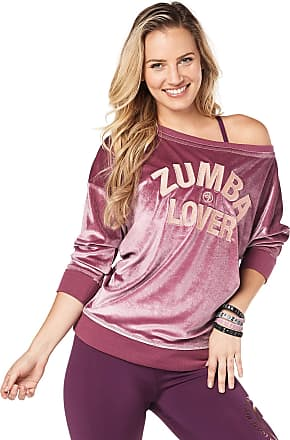 Zumba Loose Fit Pullover Top Active Dance Fitness Graphic Workout Tops for Women