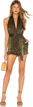 Superdown Sahara Halter Romper in Green