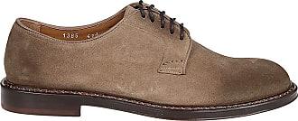 Doucal's Suede Derby Shoes, 40.5 Dark Beige