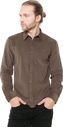 Ellus Camisa Ellus Slim Light Corduroy Marrom