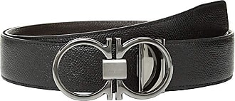 Salvatore Ferragamo Adjustable/Reversible Belt - 9661 (Black/T-Moro) Mens Belts