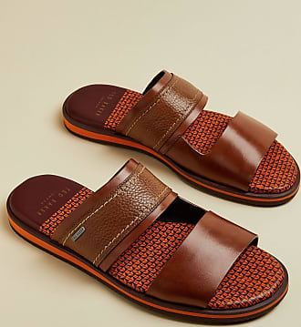 Ted Baker Leather Sandals in Tan FARLEX, Mens Accessories