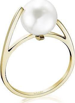 Misaki Bague fine Like dorée avec perle blanche - taille 50
