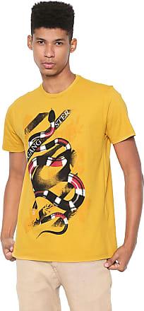 Gangster Camiseta Gangster Estampada Amarela