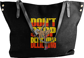 Juju Never Stop Believing In Yourself Womens Classic Shoulder Portable Big Tote Handbag Work Canvas Bags
