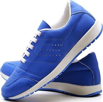 Juilli Tênis Sapato Casual Com Cadarço Feminino JUILLI 1102DB Tamanho:38;cor:Azul;gênero:Feminino