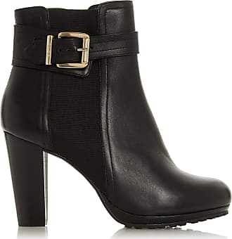 Dune London Dune Ladies Womens ORINE Buckle Strap Heeled Ankle Boots Size UK 7 Black Block Heel Ankle Boots