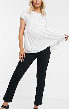 Asos Maternity ASOS DESIGN Maternity High rise Sassy cigarette jeans in black