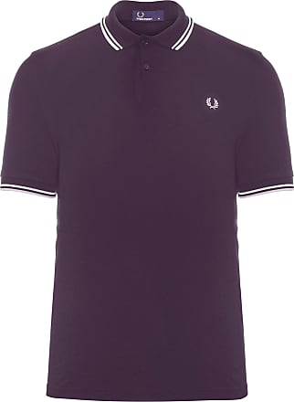 Fred Perry POLO MASCULINA TWIN TIPPED - ROXO