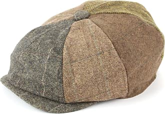 Hawkins Patchwork Tweed Newsboy Gatsby 8 Panel Flat Cap hat - Brown (59cm)