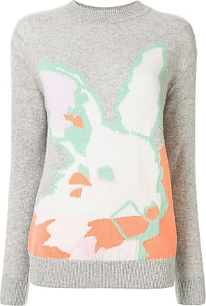 Onefifteen Suéter de tricô com estampa abstrata - Cinza