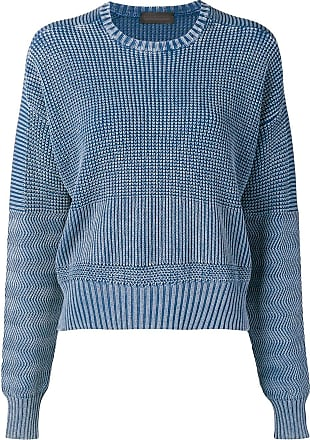 Diesel boxy pullover in military-stitch cotton - Blue