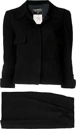 Chanel CC setup suit jacket skirt - Black
