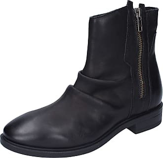 Inuovo Women Leather Black Boots 2.5 UK
