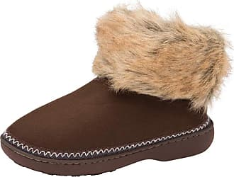 Dunlop Womens Rhea Boot Slippers Ladies Memory Foam Slipper Boots (7/8 UK, Dark Brown)