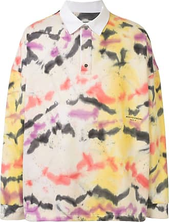 Wooyoungmi Camisa polo tie-dye de algodão - Amarelo