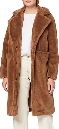 Vero Moda Womens Vmholly Long Teddy Jacket Ki Coat, Brown (Tobacco Brown Tobacco Brown), Small