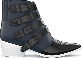 Toga Archives Ankle boot de couro - NAVY & BLACK