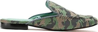 Blue Bird Shoes Slipper com amarração - Verde