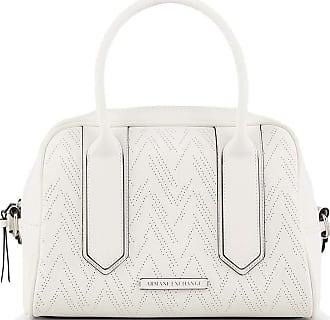A X Armani Exchange Womens Handbag White with Inner Pocket 942155 0P191 BIOSABORSE