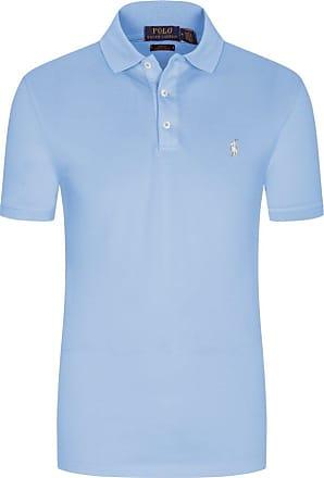 Polo Ralph Lauren Stretch Mesh Poloshirt, Slim Fit von Polo Ralph Lauren in Hellblau für Herren