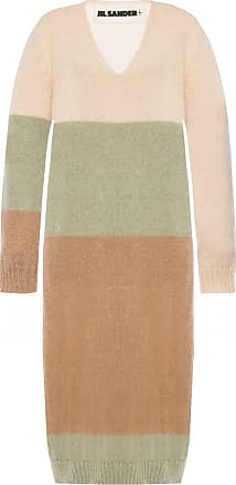 Jil Sander V-neck Dress Womens Multicolour