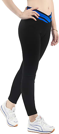 iLoveSIA Womens Yoga Pants High Waist Workout Full Leggings L1095 Blue XL