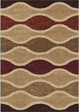 Orian Rugs Impressions Shag Making Waves Area Rug, 710 x 1010, Beige