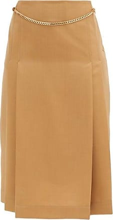 Victoria Beckham Jupe taille haute en laine plissée ceinturée