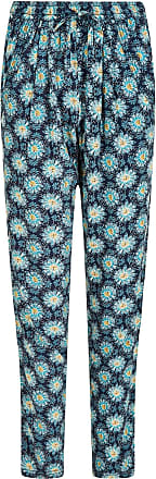 Weird Fish Tinto Printed Harem Trousers Dark Navy Size 16
