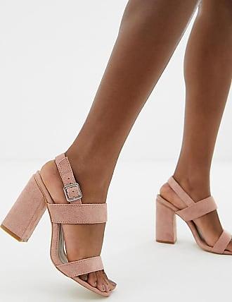 Raid RAID Wide Fit Shania blush block heeled sandals 01f1196ddcb6