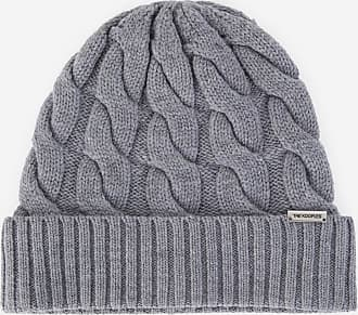 The Kooples Cable-effect grey beanie in wool - WOMEN