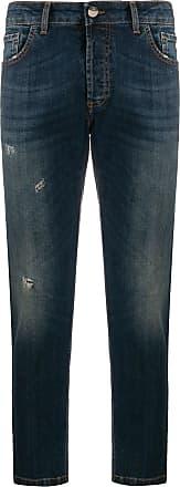 Entre Amis Calça jeans cropped destroyed - Azul
