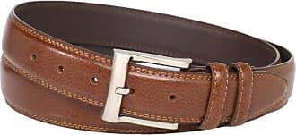 Florsheim Mens Big-tall Pebble Grain Leather Belt 32mm, Cognac, 48