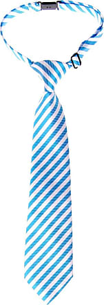 Retreez Striped Woven Pre-tied Boys Tie - Blue and White Stripe - 24 months - 4 years
