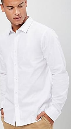 21 Men Slim-Fit Shirt at Forever 21 White