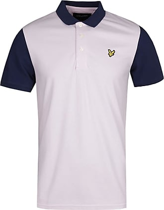 Lyle & Scott Mens Lilac Navy Ringer Polo Shirt L