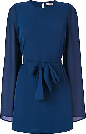 Blanca Vestido acinturado - Azul