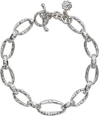 Dower & Hall Sterling Silver Oval Link Nomad Bracelet