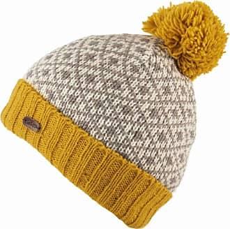 KuSan 100% Wool Fleur de Lis Bobble Hat PK1903 (Yellow)