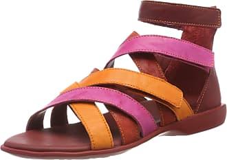 Think Womens Griawi_484558 Gladiator Sandals, (Cherry/Kombi 74), 5 UK