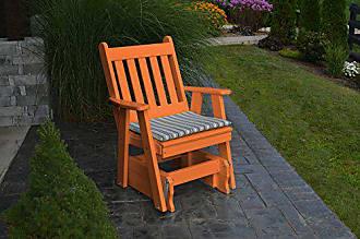 A & L Furniture A & L Furniture Poly Traditional English Gliding Chair, Orange