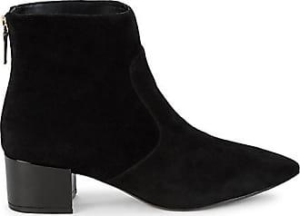 Karl Lagerfeld Maya Suede Block Heel Booties