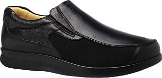Doctor Shoes Antistaffa Sapato Masculino Joanete em Couro Preto Floater/Techprene Preto 3056 Doctor Shoes-Preto-39