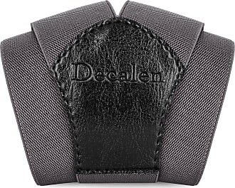 Decalen Mens braces wide adjustable and elastic suspenders Y shape with a very strong clips - Smart Casual Menswear (Dark Grey)(Size: One Size)