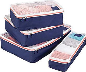 InterDesign Packing Cubes (Set of 4) Navy/Orange Travel Bag