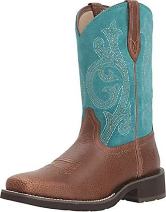 3a0821c0a Ariat Womens PRIM Rose Boot, Pebbled Brown/Turquoise, 8.5 B US